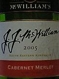 J.J.MCWILLIAM'S CABERNET MERLOT 2005