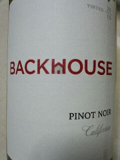 BACKHOUSE PINOT NOIR 2010