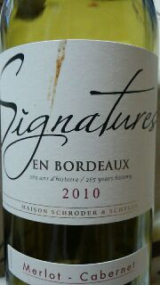 Signature EN BORDRAUX 2010